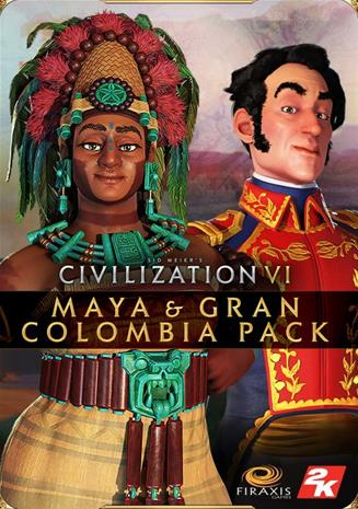 Sid Meier's Civilization VI (6) - Maya & Gran Colombia Pack, PC-peli