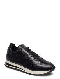 Tamaris Woms Lace-Up Matalavartiset Sneakerit Tennarit Musta Tamaris BLACK CROCO