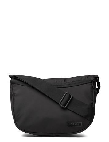 Ganni Drawstring Bag Bags Small Shoulder Bags - Crossbody Bags Musta Ganni BLACK