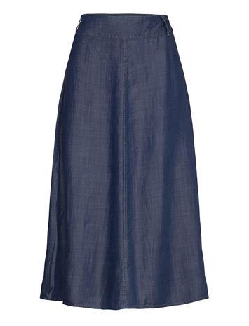Denim Hunter Dhmaria Skirt Polvipituinen Hame Sininen Denim Hunter MEDIUM BLUE WASH