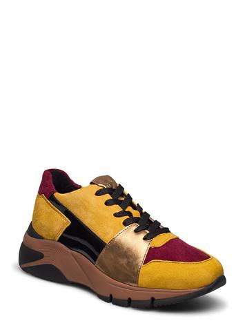 Tamaris Woms Lace-Up Matalavartiset Sneakerit Tennarit Keltainen Tamaris MUSTARD COMB, Naisten kengät
