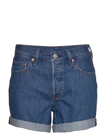 LEVI´S Women 501 Rolled Short Sansome Ranso Shorts Denim Shorts Sininen LEVI´S Women MED INDIGO - FLAT FINISH