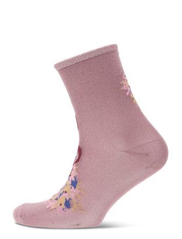 BECKSä–NDERGAARD Dina Holly Lingerie Hosiery Socks Vaaleanpunainen BECKSä–NDERGAARD WISTFUL MAUVE