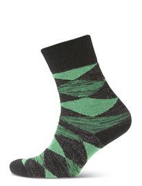 BECKSä–NDERGAARD Didde Squares W. Lingerie Hosiery Socks Vihreä BECKSä–NDERGAARD GRASS GREEN