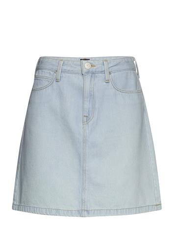 Lee Jeans A Line Zip Skirt Lyhyt Hame Sininen Lee Jeans BLEACHED ORE