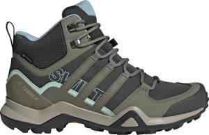 adidas TERREX Swift R2 Mid Gore-Tex Hiking Shoes Women, legend earth/legacy green/ash grey