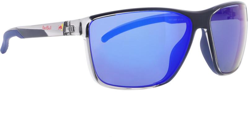 Red Bull SPECT Drift Sunglasses Men, x'tal grey/smoke with blue mirror polarized