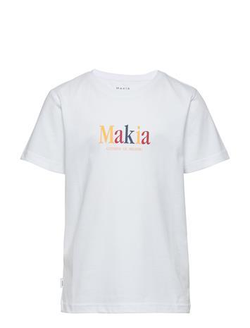 Makia Strait T-Shirt T-shirts Short-sleeved Valkoinen Makia WHITE