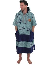 All-In Bumpy Line V Surf Poncho storm / grey blue / navy