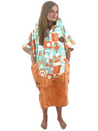 All-In Bumpy Line V Surf Poncho b / girl / vagounettes