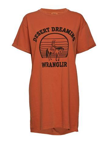 Wrangler Tee Dress Lyhyt Mekko Oranssi Wrangler BURNT OCHRE
