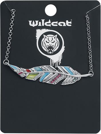 Wildkitten® - Colourful Feather Bracelet - Rannekoru - Naiset - Hopeanvärinen