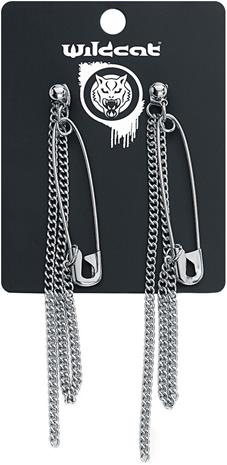 Wildkitten® - Safety Pin Earrings - Nappikorvakorusetti - Naiset - Hopeanvärinen