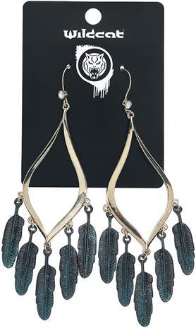 Wildkitten® - Feather Statement Earrings - Korvakoru - Naiset - Hopeanvärinen