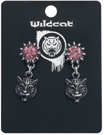 Wildkitten® - Tigers Scream Earstuds - Nappikorvakorusetti - Naiset - Hopeanvärinen