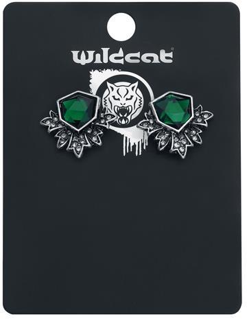 Wildkitten® - Green Power Earstuds - Nappikorvakorusetti - Naiset - Hopeanvärinen