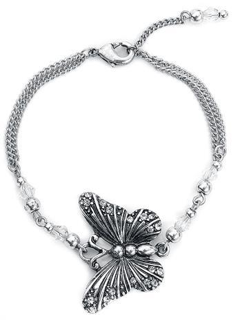 Wildkitten® - Butterfly Bracelet - Rannekoru - Naiset - Hopeanvärinen
