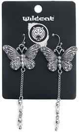 Wildkitten® - Dangling Butterfly Earrings - Korvakoru - Naiset - Hopeanvärinen