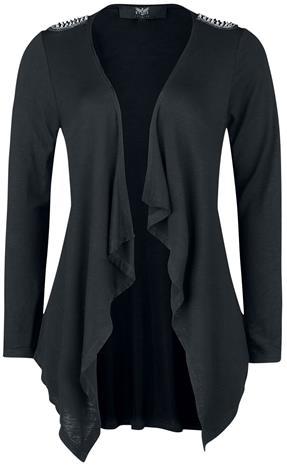 Black Premium by EMP - Schwarzer Offener Cardigan mit Nieten - Neuletakki - Naiset - Musta