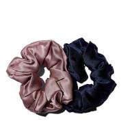 Bouclème Silk Scrunchie - Navy