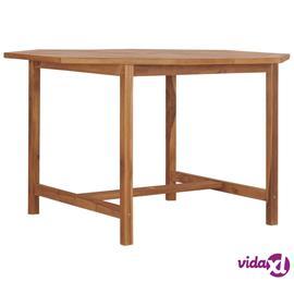 vidaXL Puutarhapöytä 120x120x75 cm täysi tiikki