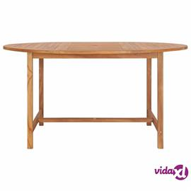 vidaXL Puutarhapöytä 150x76 cm täysi tiikki