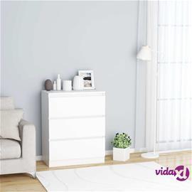 vidaXL Senkki valkoinen 60x35x76 cm lastulevy