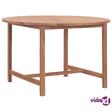 vidaXL Puutarhapöytä 120x76 cm täysi tiikki