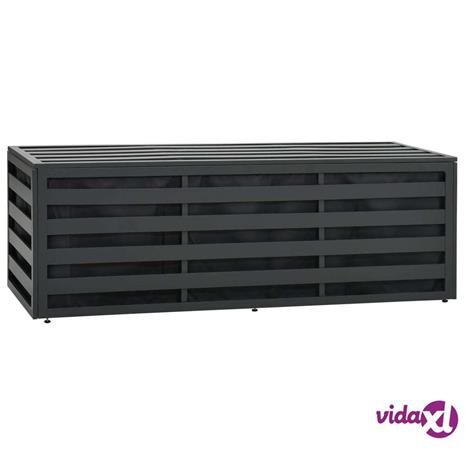 vidaXL Puutarhan varastoarkku alumiini 150x50x50 cm antrasiitti