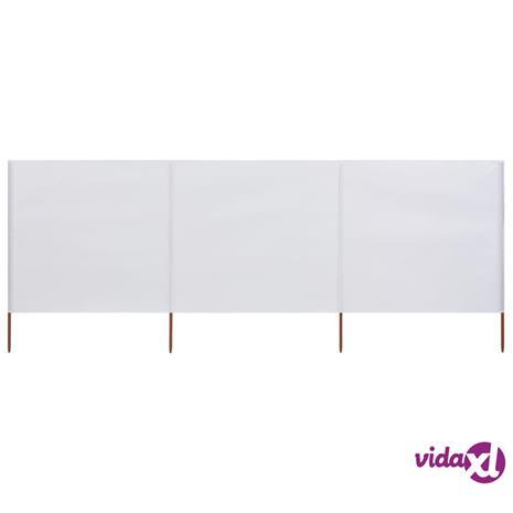 vidaXL Tuulensuojakangas 3 paneelilla 400x160 cm hiekanvalkoinen