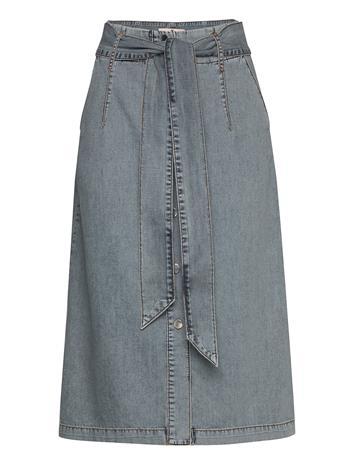 Karen By Simonsen Bonniekb Denim Skirt Polvipituinen Hame Sininen Karen By Simonsen LIGHT BLUE DENIM