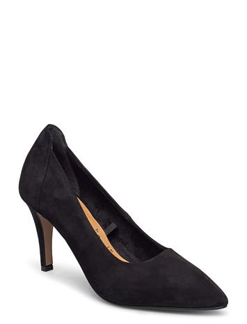 Tamaris Woms Court Shoe Shoes Heels Pumps Classic Musta Tamaris BLACK SUEDE