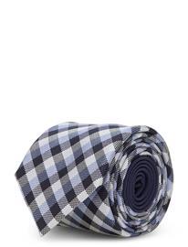 Tommy Hilfiger Tailored Check Silk 7cm Tie Solmio Kravatti Sininen Tommy Hilfiger Tailored LIGHTBLUE/NAVY/WHITE