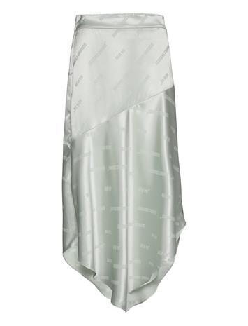 Coster Copenhagen Asymmetric Skirt Polvipituinen Hame Vihreä Coster Copenhagen MINT