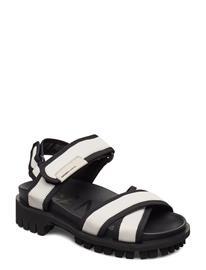 Ganni Hiking Sandal Scuba Shoes Summer Shoes Flat Sandals Ganni EGRET