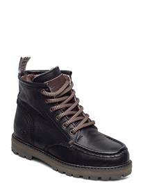 Bisgaard Bisgaard Hugo Bootsit Nauhalliset Saapikkaat Musta Bisgaard BLACK