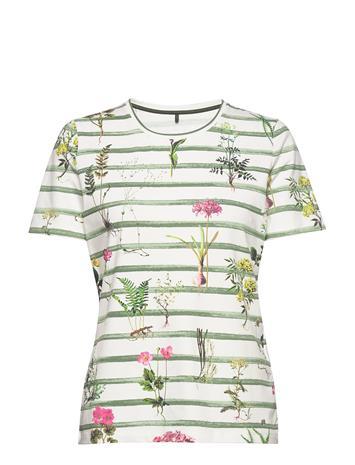 Gerry Weber Edition T-Shirt Short-Sleeve T-shirts & Tops Short-sleeved Vihreä Gerry Weber Edition GREEN/ECRU/WHITE STRIPES