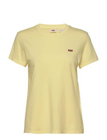 LEVI´S Women Perfect Tee Lemon Meringue T-shirts & Tops Short-sleeved Keltainen LEVI´S Women YELLOWS/ORANGES