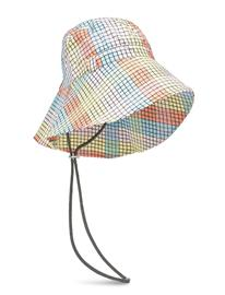 Ganni Seersucker Check Accessories Accessories Headwear Bucket Hats Monivärinen/Kuvioitu Ganni MULTICOLOUR