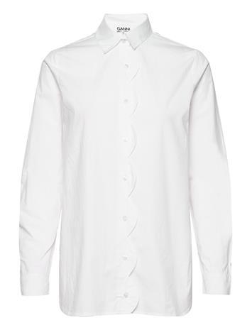 Ganni Shirt Pitkähihainen Paita Valkoinen Ganni BRIGHT WHITE
