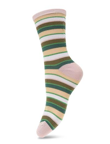 BECKSä–NDERGAARD Dagmar Multi Stripe Lingerie Hosiery Socks Vihreä BECKSä–NDERGAARD WINTER MOSS
