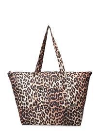 Ganni Packable Tote Bags Shoppers Fashion Shoppers Ruskea Ganni LEOPARD