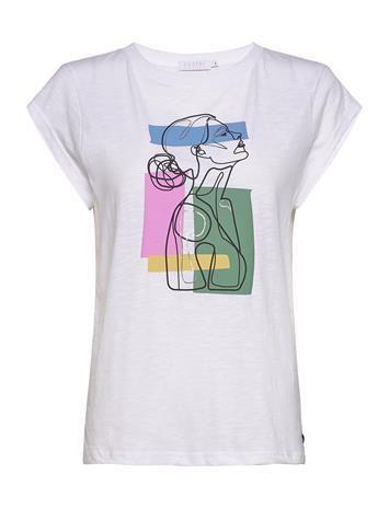 Coster Copenhagen Tee W. Face Print T-shirts & Tops Short-sleeved Valkoinen Coster Copenhagen WHITE