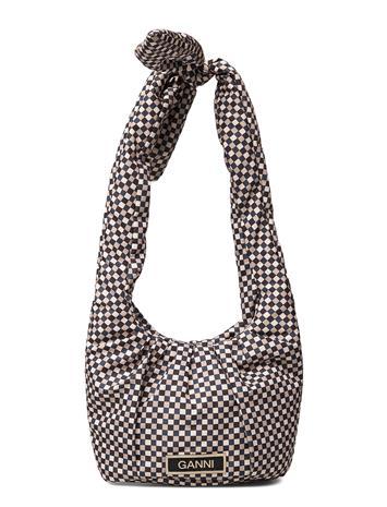 Ganni Mini Tote Bag Bags Small Shoulder Bags - Crossbody Bags Monivärinen/Kuvioitu Ganni TANNIN