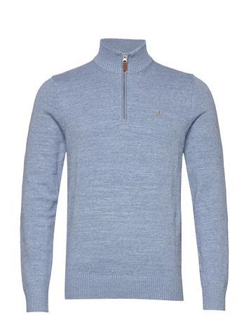 Morris Randal Half Zip Knitwear Half Zip Jumpers Sininen Morris LIGHT BLUE