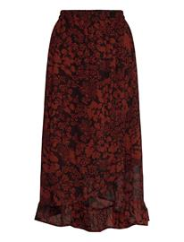 InWear Florizzaiw Skirt Polvipituinen Hame Ruskea InWear CAYENNE POETIC FLOWER