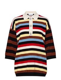 Ganni Cashmere Knit T-shirts & Tops Knitted T-shirts/tops Monivärinen/Kuvioitu Ganni MULTICOLOUR