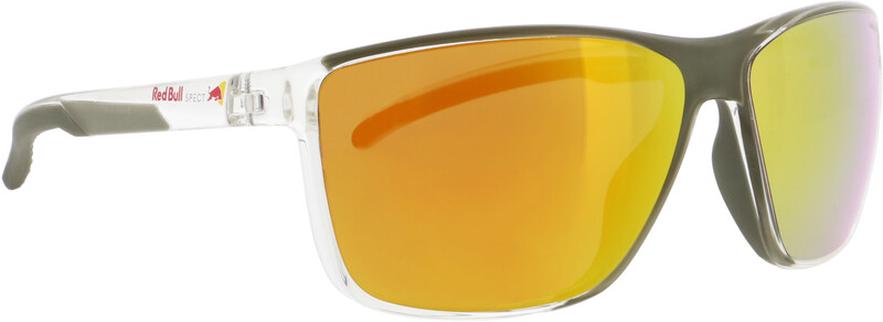 Red Bull SPECT Drift Sunglasses Men, x'tal clear/brown with orange mirror polarized