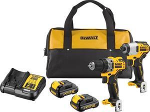 Akkukonesarja DeWalt DCK2110C2-QW (DCD701 + DCF801) 12V 2x1,3Ah