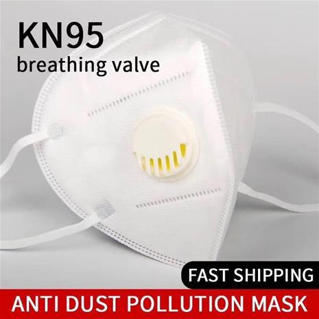 10 PACK KN95 skyddsmask med ventilx10